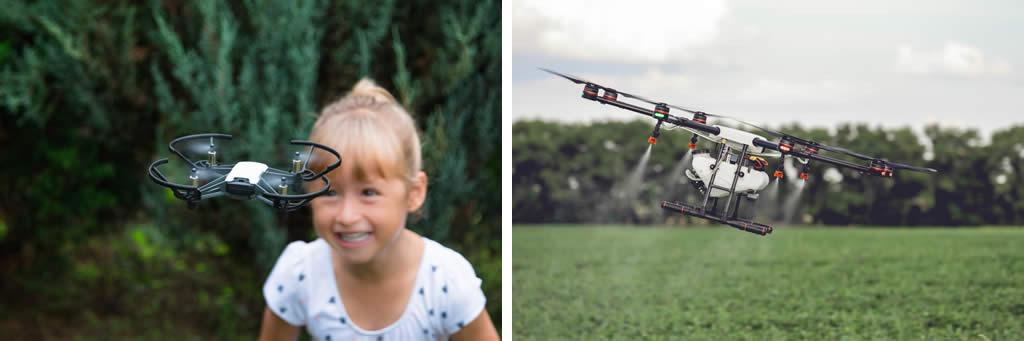 Diferencia entre dron profesional y recreativo
